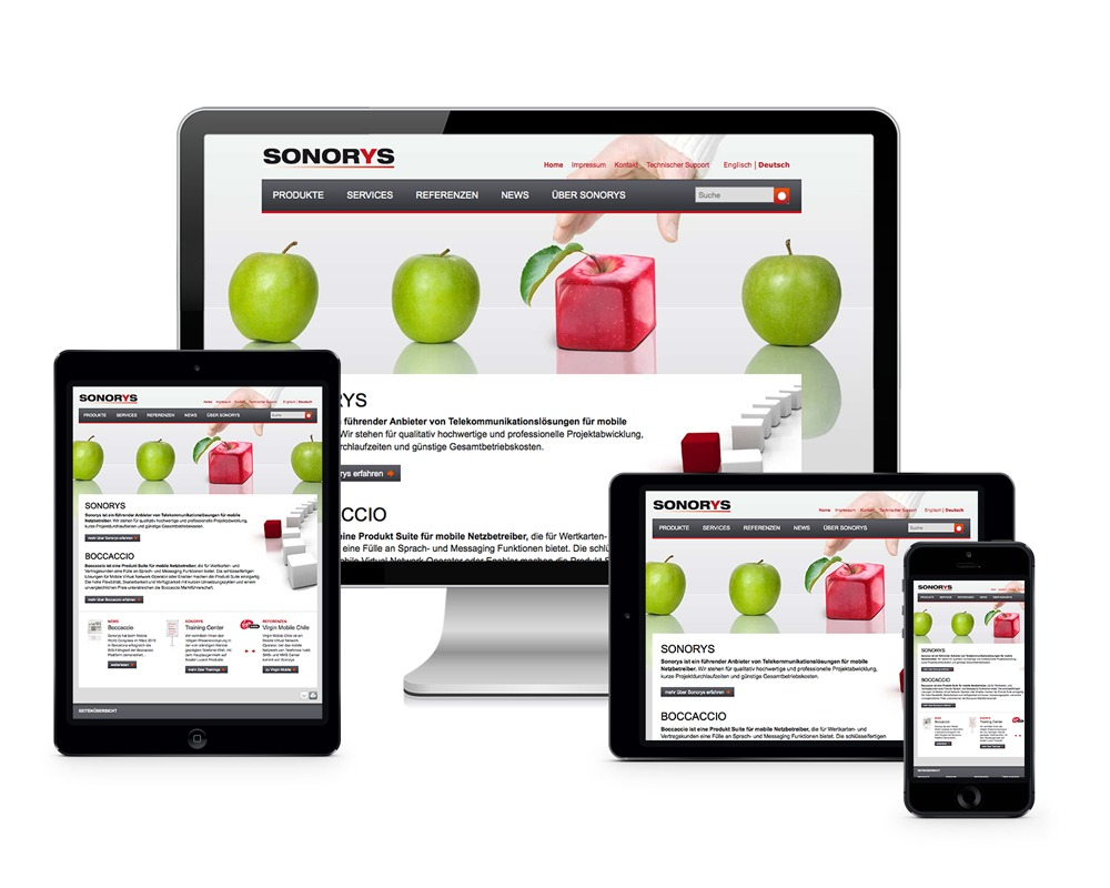 Sonorys - Website