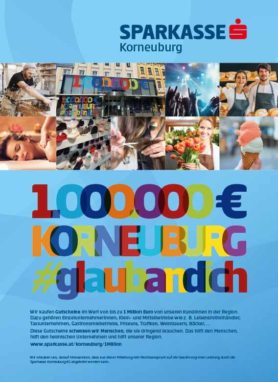 Inserat Korneuburg 1 Million